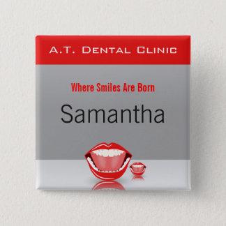 El nombre dental del dentista de la boca grande chapa cuadrada
