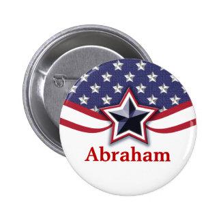 El nombre patriótico marca los botones del nombre chapa redonda de 5 cm