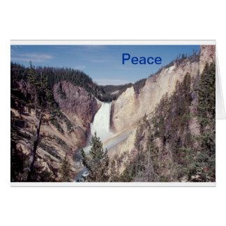 El notecard de la paz baja caídas tarjeta pequeña