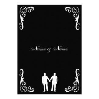El novio y el boda gay del novio invitan