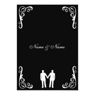 El novio y el boda gay del novio invitan invitación 12,7 x 17,8 cm