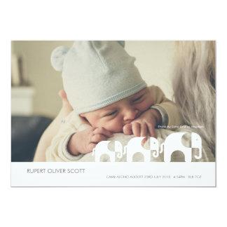 El nuevo bebé adelante vino tarjeta de Announcment