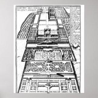 El nuevo castillo francés de Santo-Germán-en-Laye, Póster