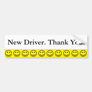 El nuevo conductor de la cara sonriente amistosa pegatina para coche