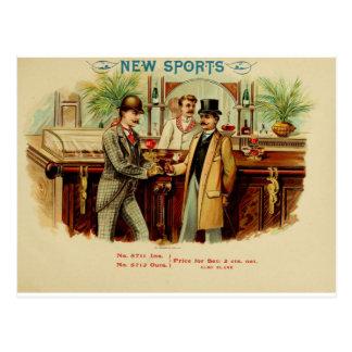 El nuevo deporte tiene una bebida en mí postal
