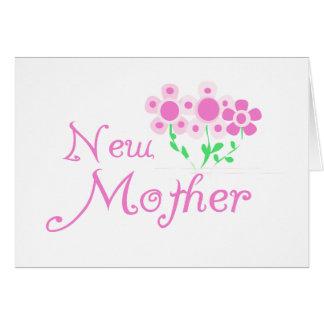 El nuevo rosa de la madre florece las camisetas y tarjeta