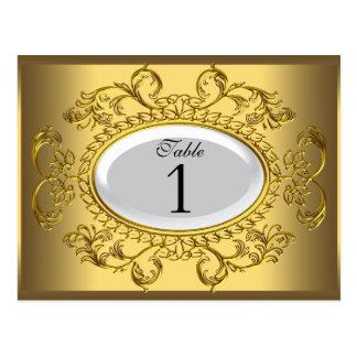 El número de la tabla carda el oro blanco real postal