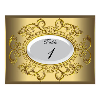 El número de la tabla carda el oro blanco real tarjeta postal
