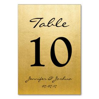 El número de la tabla de la recepción nupcial del tarjeta