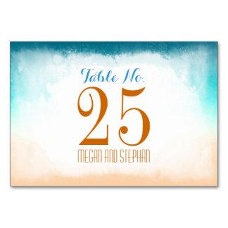El número de la tabla de Ombre del boda de playa c