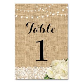 El número de la tabla que casa la arpillera