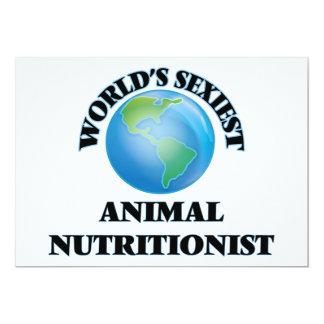 El nutricionista animal más atractivo del mundo invitación 12,7 x 17,8 cm