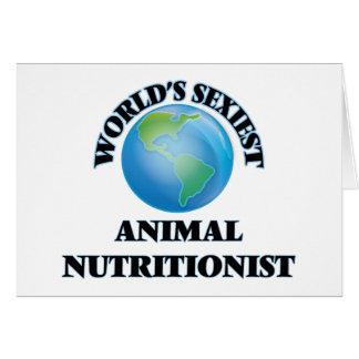 El nutricionista animal más atractivo del mundo tarjetón