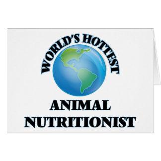 El nutricionista animal más caliente del mundo tarjeta