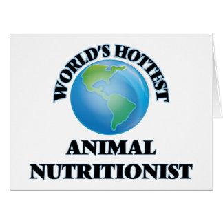 El nutricionista animal más caliente del mundo tarjeta de felicitación grande