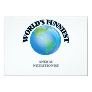 El nutricionista animal más divertido del mundo invitación 12,7 x 17,8 cm