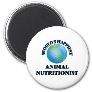 El nutricionista animal más feliz del mundo imán redondo 5 cm