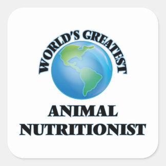 El nutricionista animal más grande del mundo pegatina cuadrada