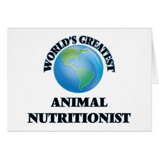 El nutricionista animal más grande del mundo tarjeton