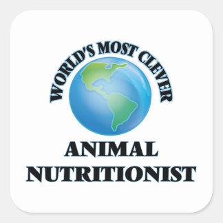 El nutricionista animal más listo del mundo pegatina cuadrada