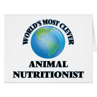 El nutricionista animal más listo del mundo tarjeta de felicitación grande