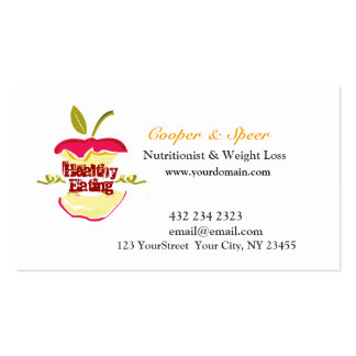 El nutricionista Apple el dietético diseña negocio Tarjetas De Visita