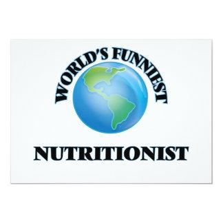 El nutricionista más divertido del mundo invitación 12,7 x 17,8 cm