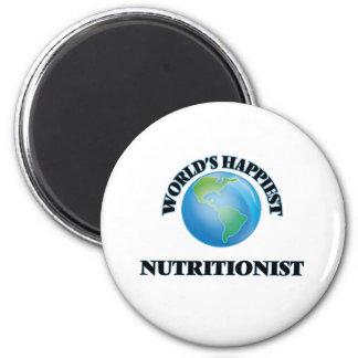 El nutricionista más feliz del mundo imán redondo 5 cm