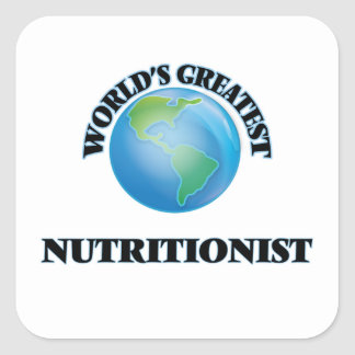 El nutricionista más grande del mundo pegatina cuadrada