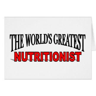 El nutricionista más grande del mundo tarjeta de felicitación