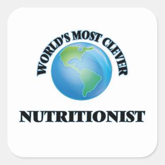 El nutricionista más listo del mundo pegatina cuadrada