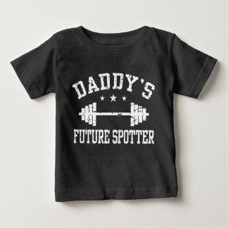 El observador de tiro futuro del papá camiseta de bebé