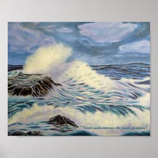 El océano - una fuerza de la naturaleza póster