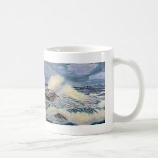 El océano - una fuerza de la naturaleza taza de café