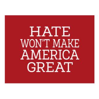 El odio no hará América grande Postal