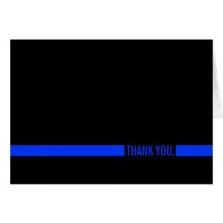 El oficial de policía Blue Line fino le agradece Tarjeta De Felicitación