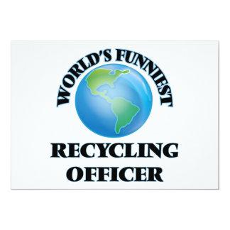 El oficial de reciclaje más divertido del mundo invitación 12,7 x 17,8 cm