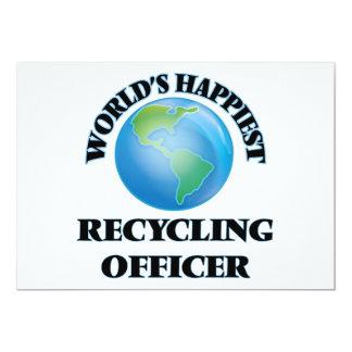 El oficial de reciclaje más feliz del mundo invitación 12,7 x 17,8 cm