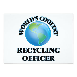 El oficial de reciclaje más fresco del mundo invitación 12,7 x 17,8 cm