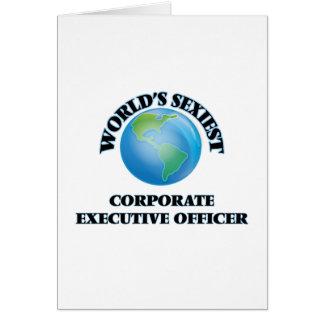 El oficial del ejecutivo empresarial más atractivo tarjeta de felicitación