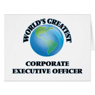 El oficial del ejecutivo empresarial más grande felicitación