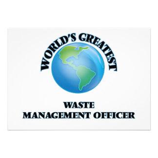 El oficial más grande de la gestión de desechos anuncios