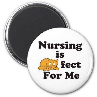 El oficio de enfermera es Purrr-fect para mí Imán Redondo 5 Cm