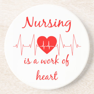 El oficio de enfermera es un trabajo de la cita posavasos de arenisca