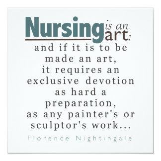 El oficio de enfermera es una invitación de la