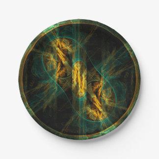 El ojo del arte abstracto de la selva plato de papel