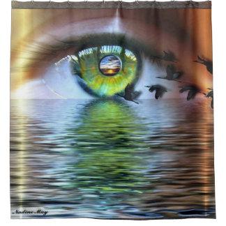El ojo del espectador cortina de baño