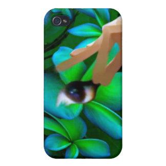 El ojo escogió el producto de las flores iPhone 4 protectores