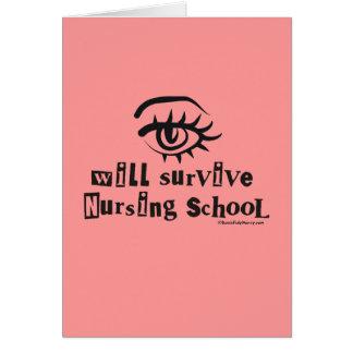 El ojo sobrevivirá la escuela de enfermería tarjetas