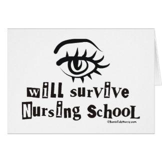 El ojo sobrevivirá la escuela de enfermería tarjeta